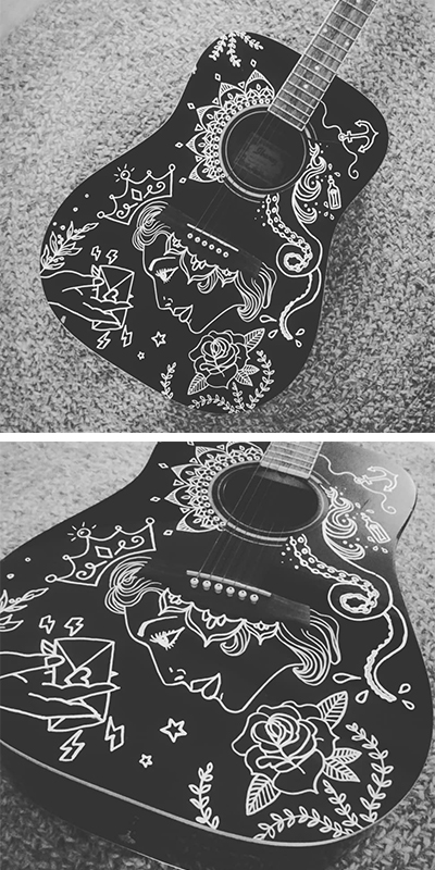 Customised guitar by CLM Art