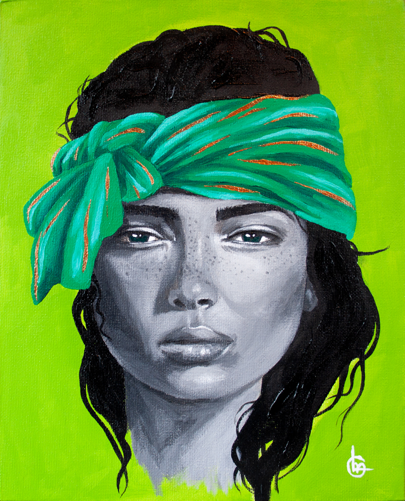 Acrylic painting - green | CLM Art