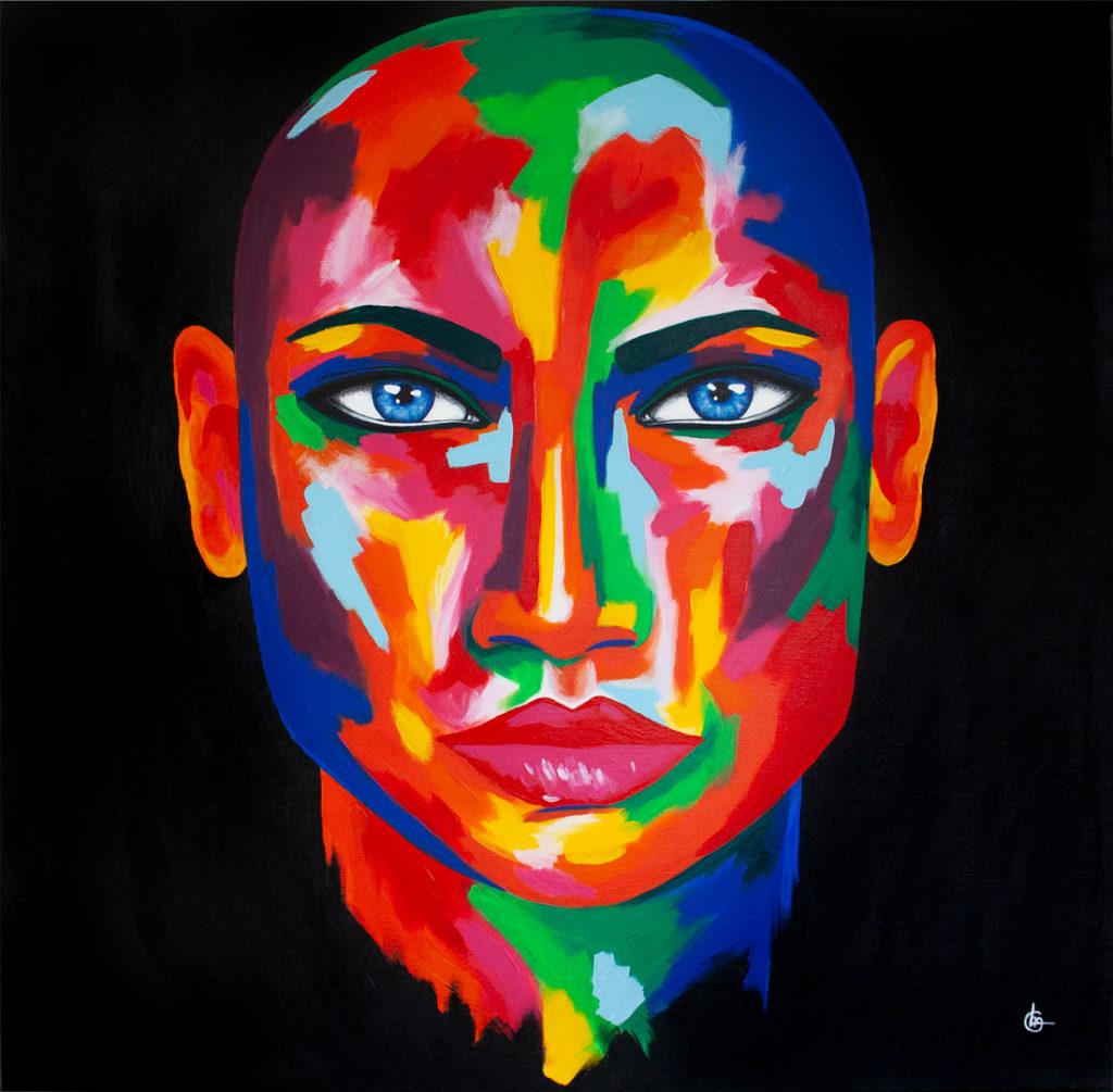 Modern acrylic painting MAYA by CLM Art