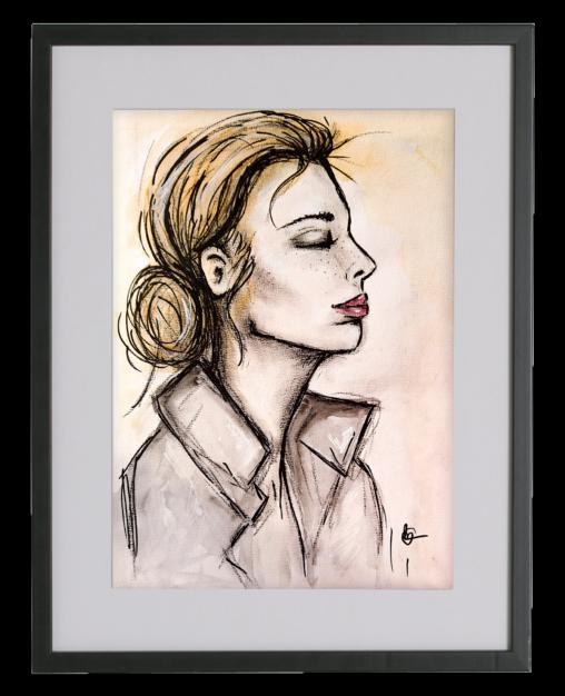ELLE mixed media schilderij | CLM Art