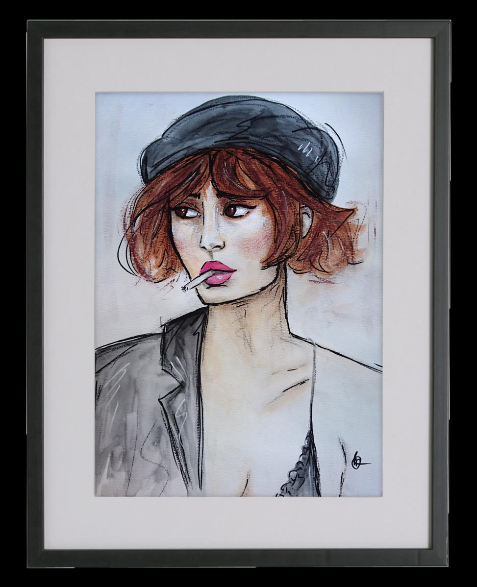 LOLA mixed media schilderij | CLM Art