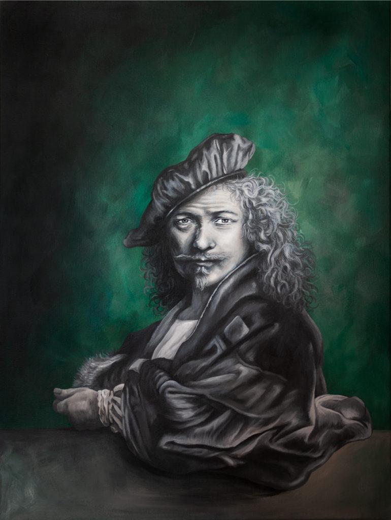 Rembrandt - Modern Acryl schilderij Door CLM Art