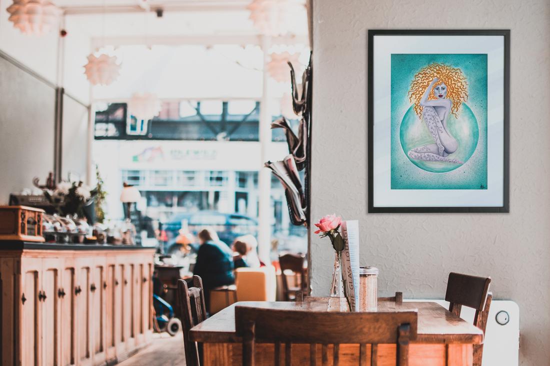 Schilderij Curly Girlie in interieur | CLM Art