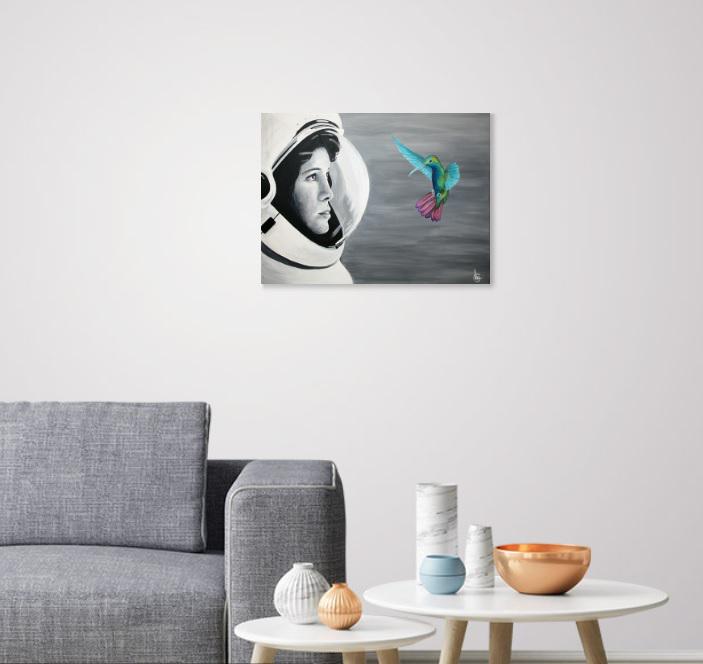 Schilderij Facing Freedom in interieur - CLM Art