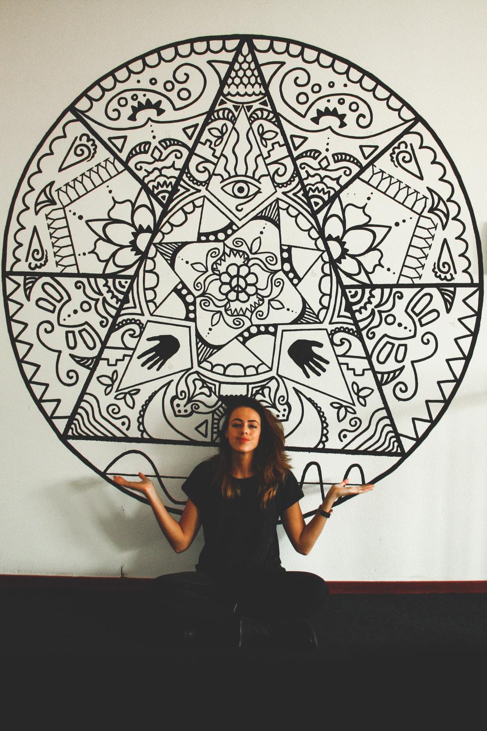 CLM Art - - Muurschildering - Mandala