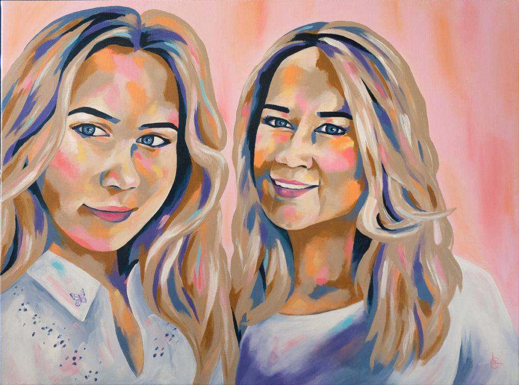 Portretschilderij in opdracht | Kunst op maat | CLM Art