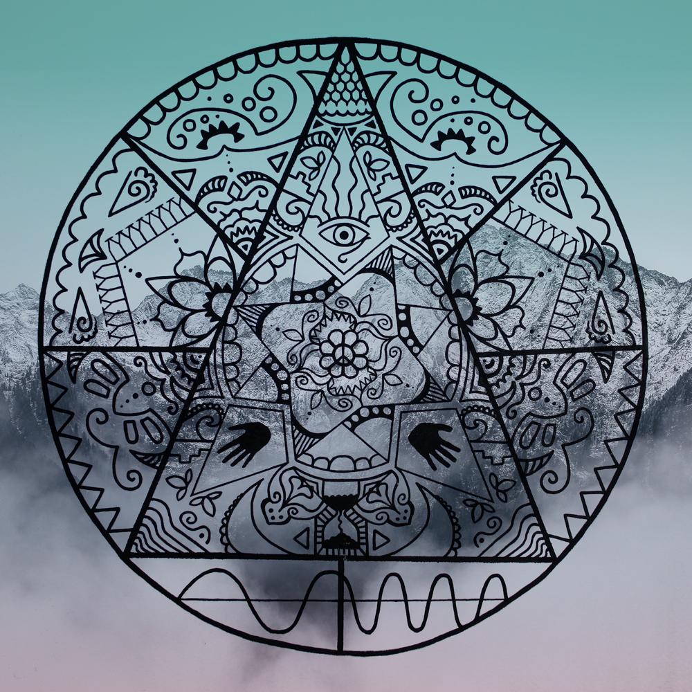 Digital artwork Mandala Mystery by CLM Art